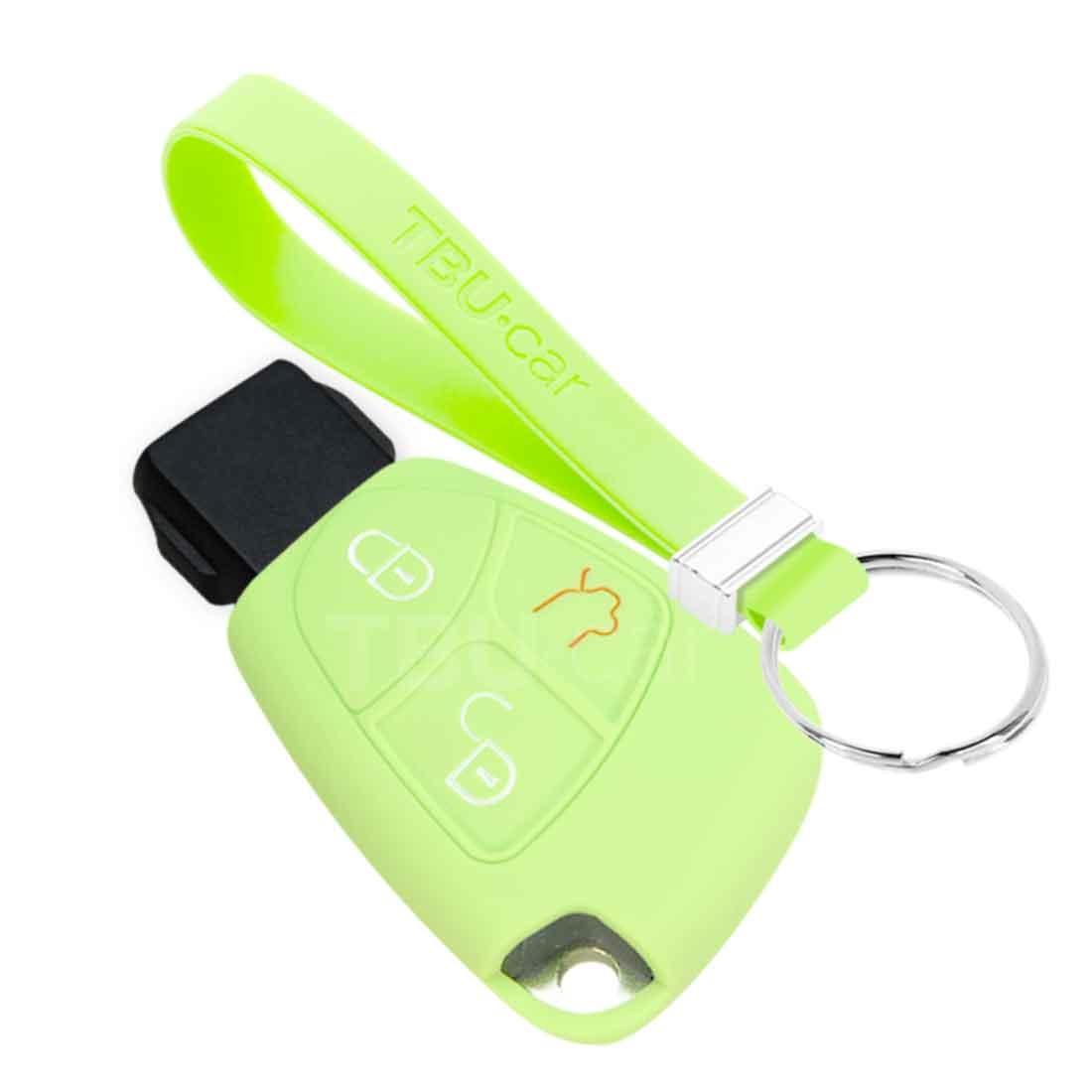 TBU car TBU car Sleutel cover compatibel met Mercedes - Silicone sleutelhoesje - beschermhoesje autosleutel - Glow in the Dark