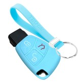 TBU car TBU car Sleutel cover compatibel met Mercedes - Silicone sleutelhoesje - beschermhoesje autosleutel - Lichtblauw
