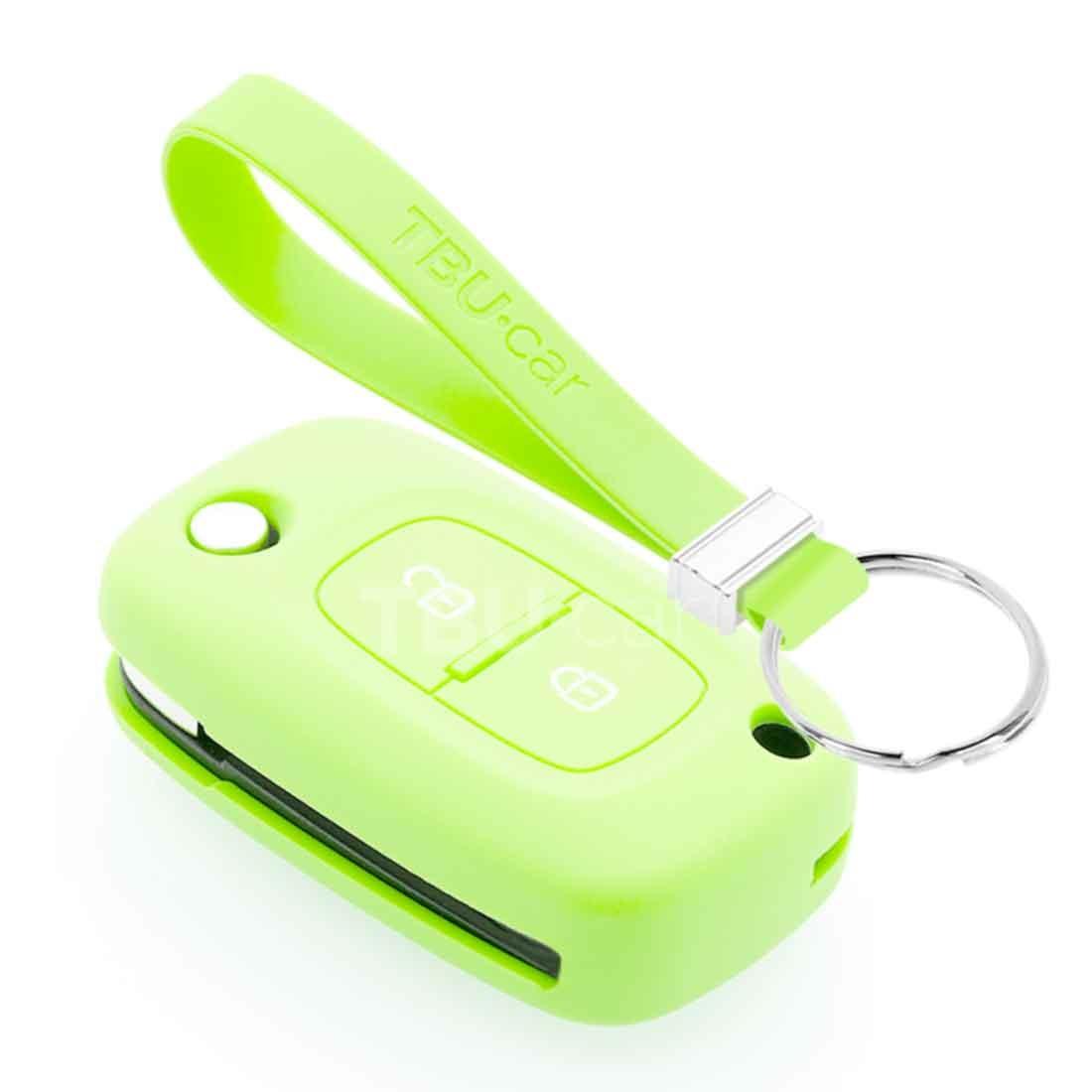 TBU car TBU car Autoschlüssel Hülle kompatibel mit Mercedes 2 Tasten - Schutzhülle aus Silikon - Auto Schlüsselhülle Cover in Im Dunkeln leuchten