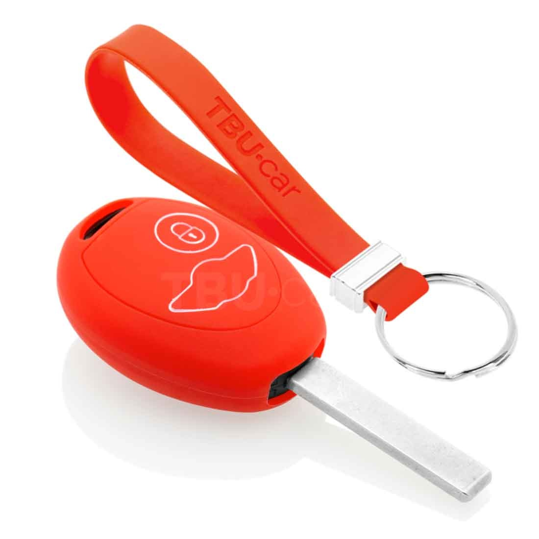 TBU car TBU car Sleutel cover compatibel met Mini - Silicone sleutelhoesje - beschermhoesje autosleutel - Rood