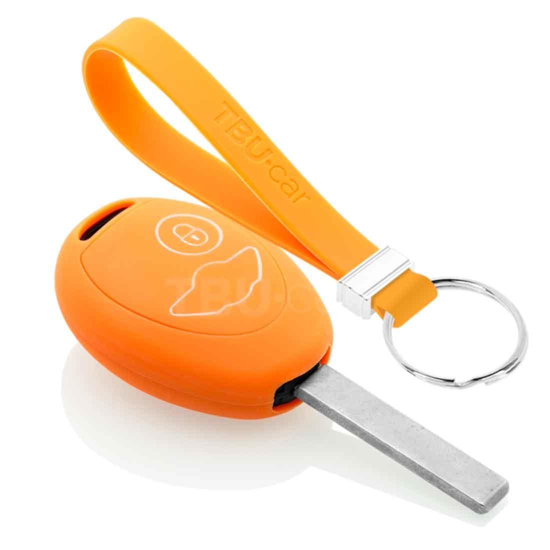 TBU car TBU car Sleutel cover compatibel met Mini - Silicone sleutelhoesje - beschermhoesje autosleutel - Oranje