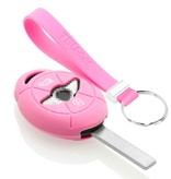 TBU car TBU car Autoschlüssel Hülle kompatibel mit Mini 3 Tasten - Schutzhülle aus Silikon - Auto Schlüsselhülle Cover in Rosa