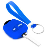 TBU car TBU car Autoschlüssel Hülle kompatibel mit Mitsubishi 2 Tasten - Schutzhülle aus Silikon - Auto Schlüsselhülle Cover in Blau