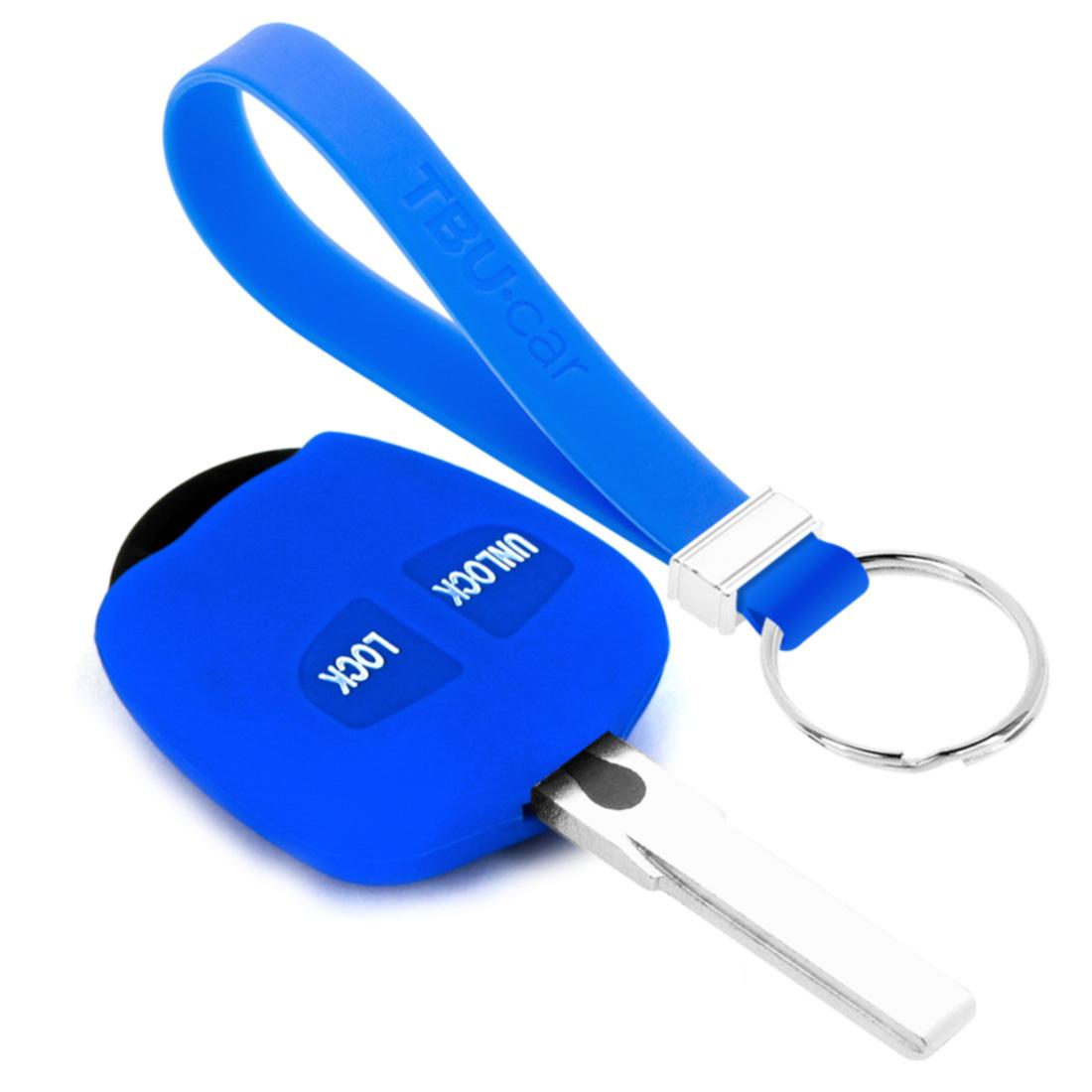 TBU car TBU car Sleutel cover compatibel met Mitsubishi - Silicone sleutelhoesje - beschermhoesje autosleutel - Blauw