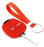 TBU car TBU car Autoschlüssel Hülle kompatibel mit Mitsubishi 2 Tasten - Schutzhülle aus Silikon - Auto Schlüsselhülle Cover in Rot