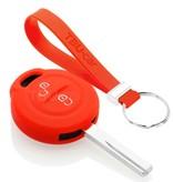 TBU car TBU car Sleutel cover compatibel met Mitsubishi - Silicone sleutelhoesje - beschermhoesje autosleutel - Rood