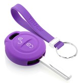 TBU car TBU car Sleutel cover compatibel met Mitsubishi - Silicone sleutelhoesje - beschermhoesje autosleutel - Paars