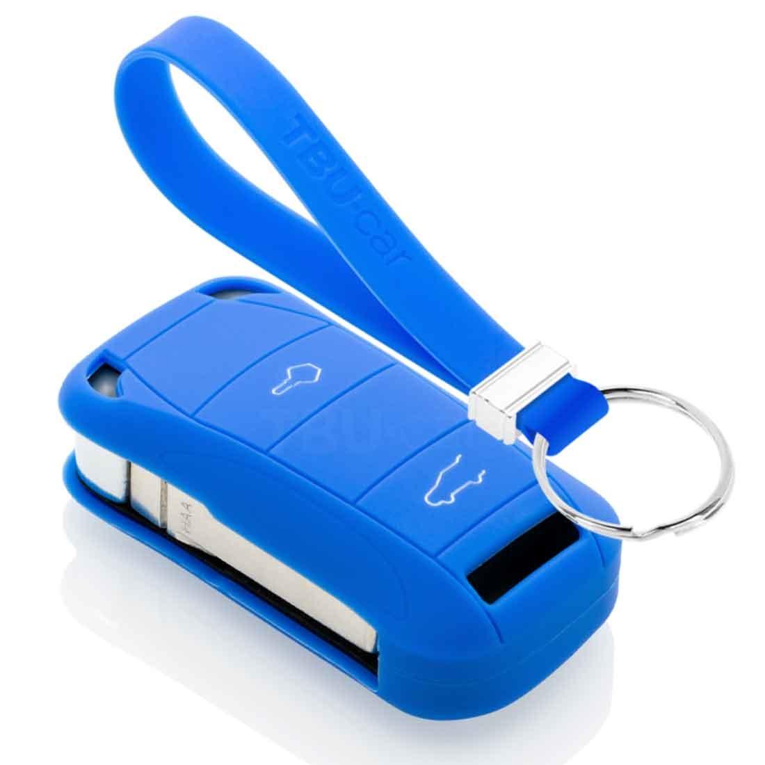 TBU car TBU car Sleutel cover compatibel met Porsche - Silicone sleutelhoesje - beschermhoesje autosleutel - Blauw