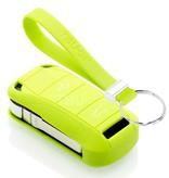 TBU car TBU car Autoschlüssel Hülle kompatibel mit Porsche 2 Tasten - Schutzhülle aus Silikon - Auto Schlüsselhülle Cover in Lindgrün