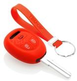 TBU car TBU car Autoschlüssel Hülle kompatibel mit Saab 3 Tasten - Schutzhülle aus Silikon - Auto Schlüsselhülle Cover in Rot
