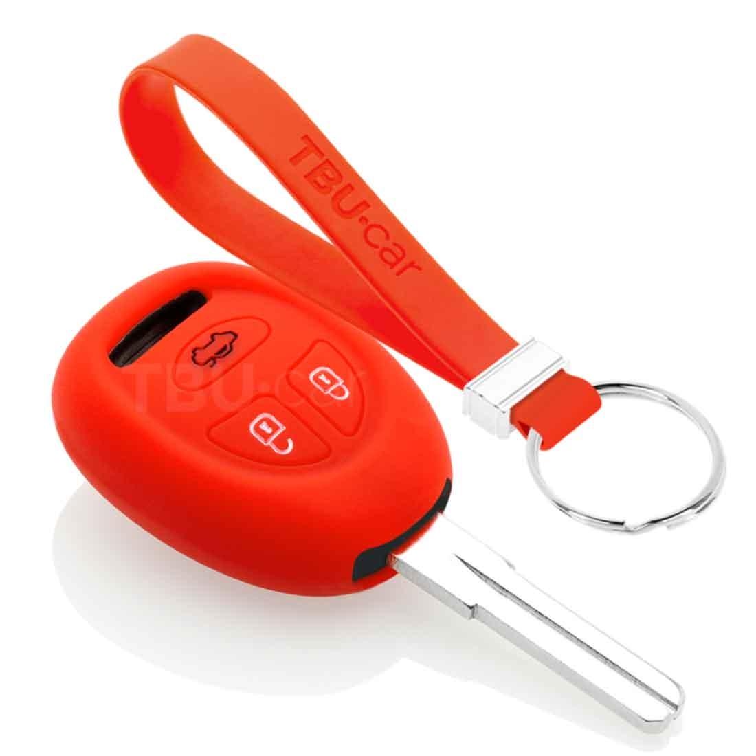 TBU car TBU car Sleutel cover compatibel met Saab - Silicone sleutelhoesje - beschermhoesje autosleutel - Rood