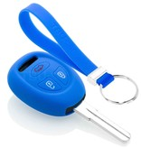TBU car TBU car Autoschlüssel Hülle kompatibel mit Saab 3 Tasten - Schutzhülle aus Silikon - Auto Schlüsselhülle Cover in Blau