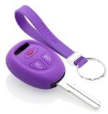 TBU car TBU car Sleutel cover compatibel met Saab - Silicone sleutelhoesje - beschermhoesje autosleutel - Paars