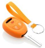 TBU car TBU car Sleutel cover compatibel met Saab - Silicone sleutelhoesje - beschermhoesje autosleutel - Oranje