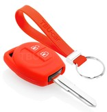 TBU car TBU car Autoschlüssel Hülle kompatibel mit Suzuki 2 Tasten - Schutzhülle aus Silikon - Auto Schlüsselhülle Cover in Rot