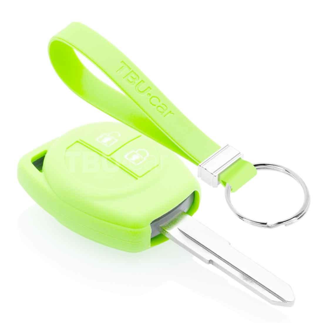 TBU car TBU car Sleutel cover compatibel met Suzuki - Silicone sleutelhoesje - beschermhoesje autosleutel - Glow in the Dark
