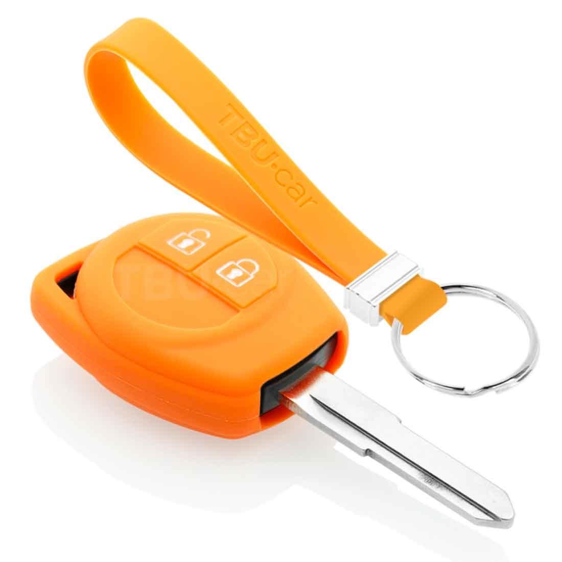 TBU car TBU car Sleutel cover compatibel met Suzuki - Silicone sleutelhoesje - beschermhoesje autosleutel - Oranje