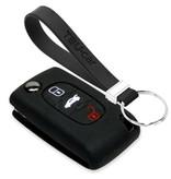 TBU car TBU car Autoschlüssel Hülle kompatibel mit Citroën 3 Tasten - Schutzhülle aus Silikon - Auto Schlüsselhülle Cover in Schwarz