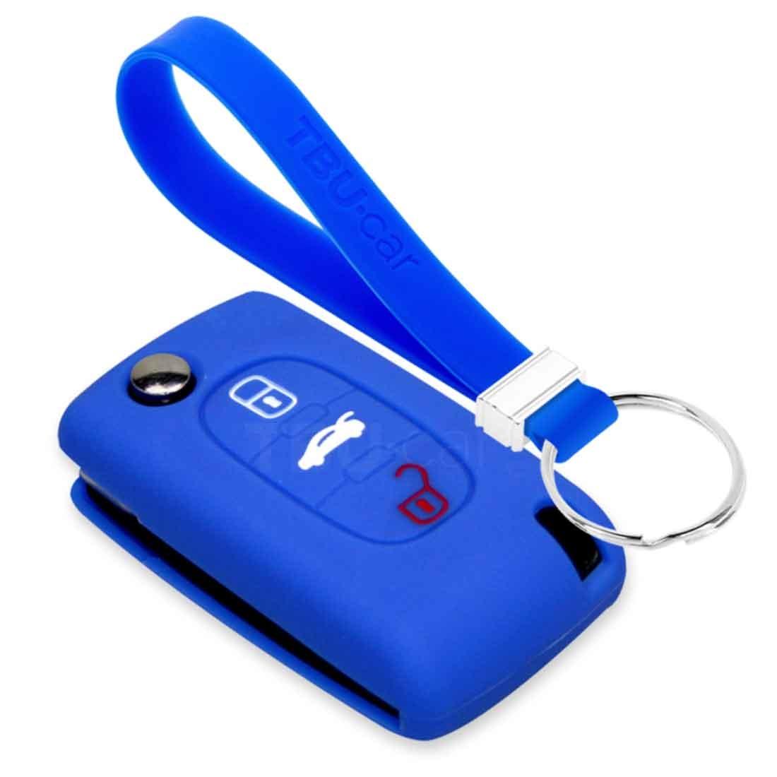 TBU car TBU car Funda Carcasa llave compatible con Citroën - Funda de Silicona - Cover de Llave Coche - Azul