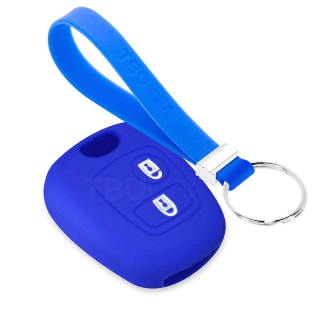 TBU car TBU car Autoschlüssel Hülle kompatibel mit Citroën 2 Tasten - Schutzhülle aus Silikon - Auto Schlüsselhülle Cover in Blau