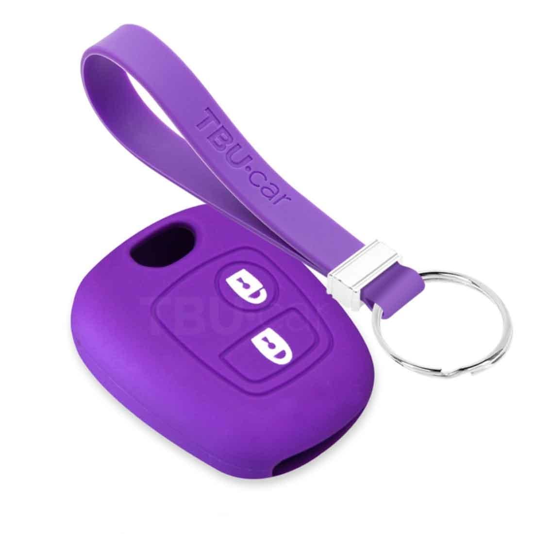 TBU car TBU car Car key cover compatible with Citroën - Silicone Protective Remote Key Shell - FOB Case Cover - Purple