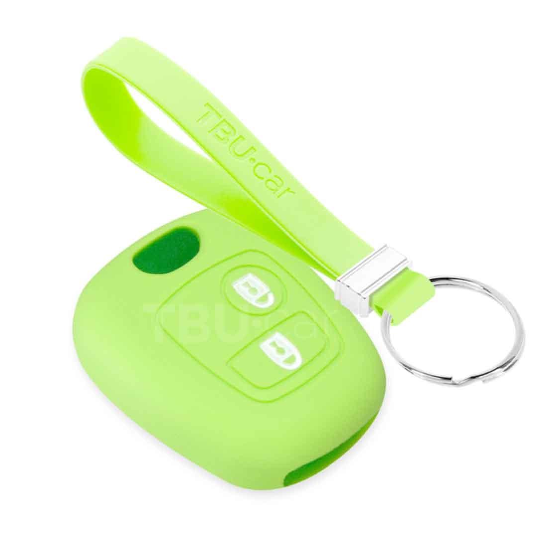 TBU car TBU car Autoschlüssel Hülle kompatibel mit Citroën 2 Tasten - Schutzhülle aus Silikon - Auto Schlüsselhülle Cover in Im Dunkeln leuchten