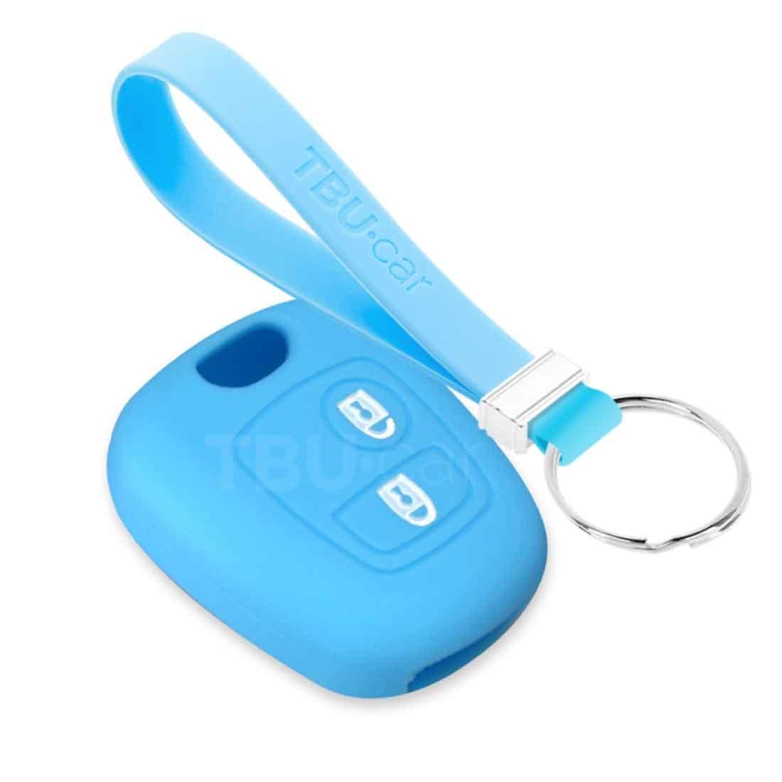 TBU car TBU car Car key cover compatible with Citroën - Silicone Protective Remote Key Shell - FOB Case Cover - Light Blue