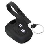 TBU car TBU car Autoschlüssel Hülle kompatibel mit Toyota 2 Tasten - Schutzhülle aus Silikon - Auto Schlüsselhülle Cover in Schwarz