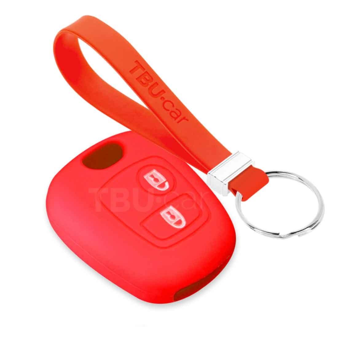 TBU car TBU car Sleutel cover compatibel met Toyota - Silicone sleutelhoesje - beschermhoesje autosleutel - Rood