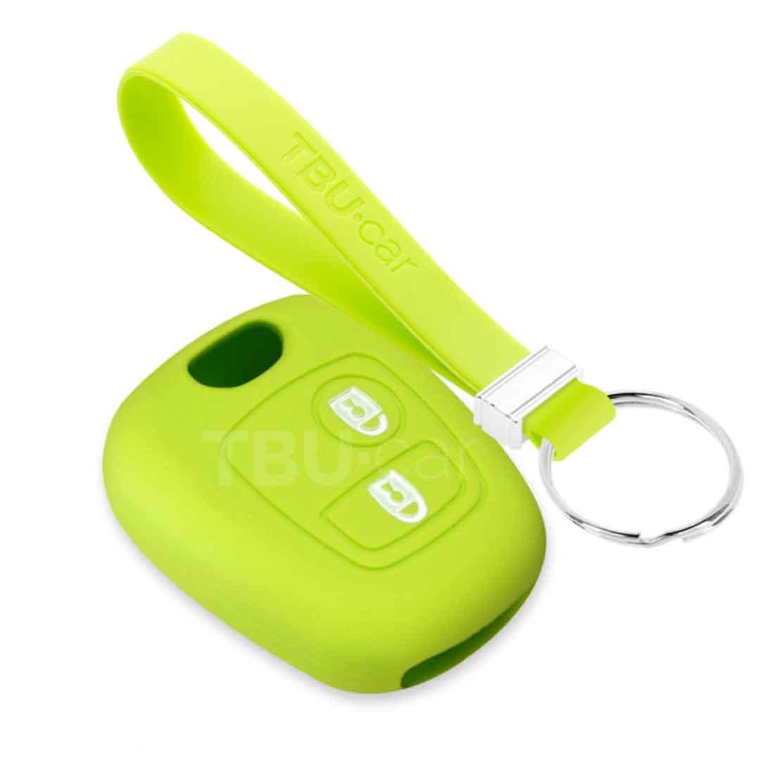 TBU car TBU car Autoschlüssel Hülle kompatibel mit Toyota 2 Tasten - Schutzhülle aus Silikon - Auto Schlüsselhülle Cover in Lindgrün