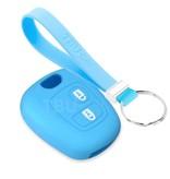 TBU car TBU car Sleutel cover compatibel met Toyota - Silicone sleutelhoesje - beschermhoesje autosleutel - Lichtblauw