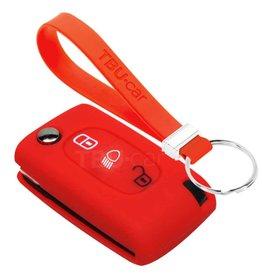 TBU car Peugeot Funda Carcasa llave - Rojo