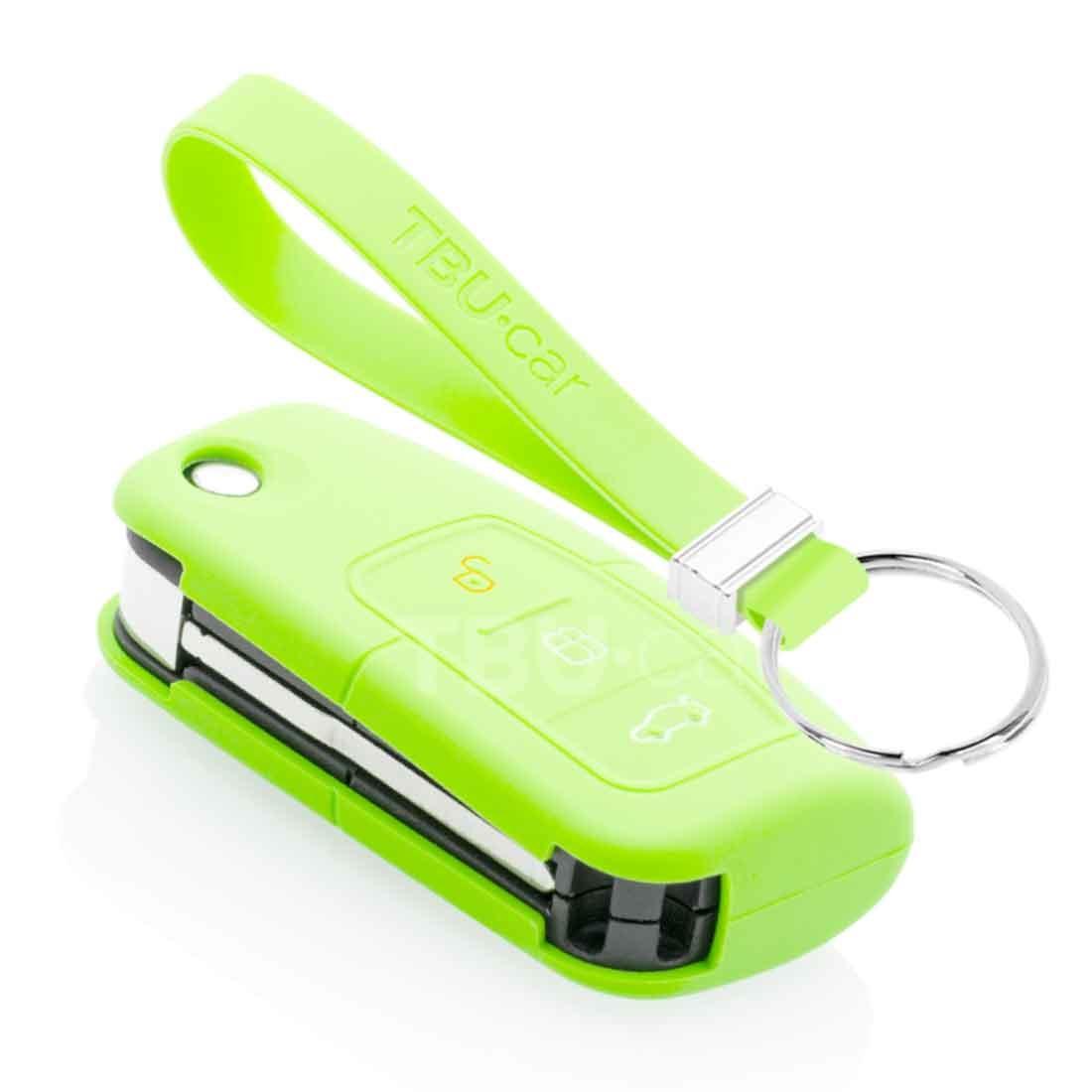 TBU car TBU car Autoschlüssel Hülle kompatibel mit Ford 3 Tasten - Schutzhülle aus Silikon - Auto Schlüsselhülle Cover in Im Dunkeln leuchten