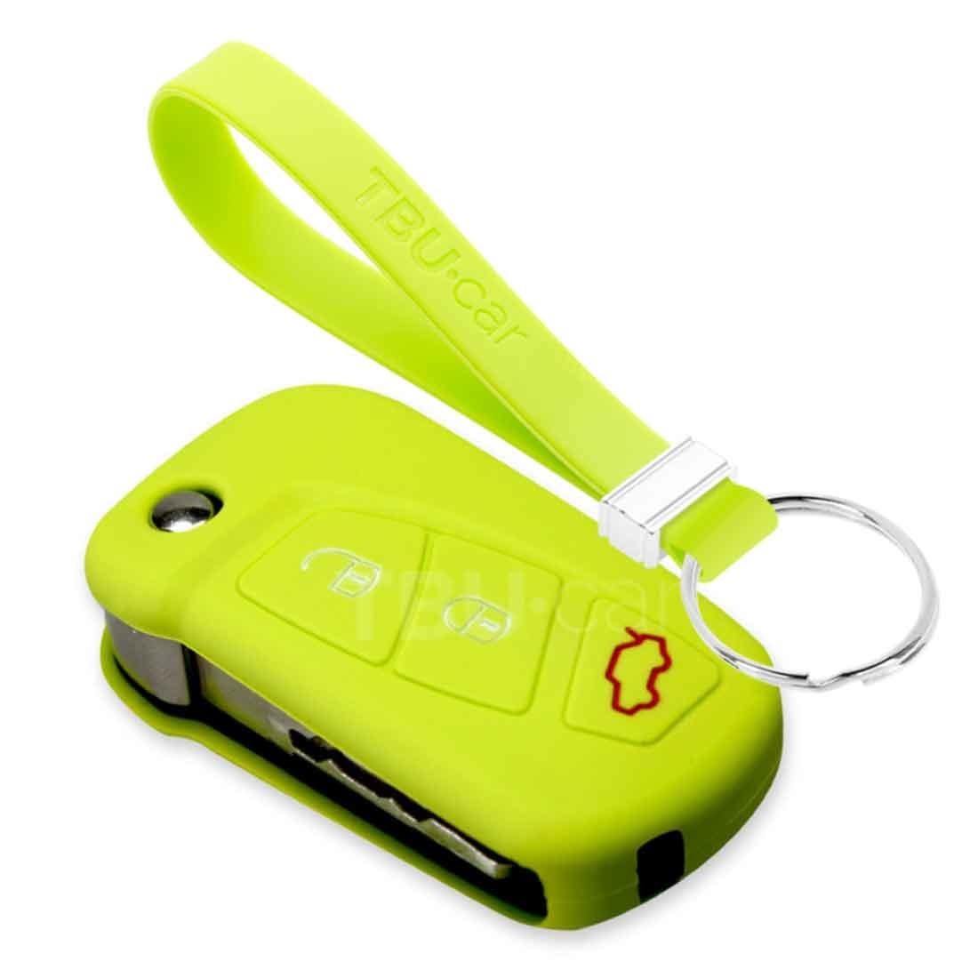 TBU car TBU car Autoschlüssel Hülle kompatibel mit Ford 3 Tasten (KA) - Schutzhülle aus Silikon - Auto Schlüsselhülle Cover in Lindgrün