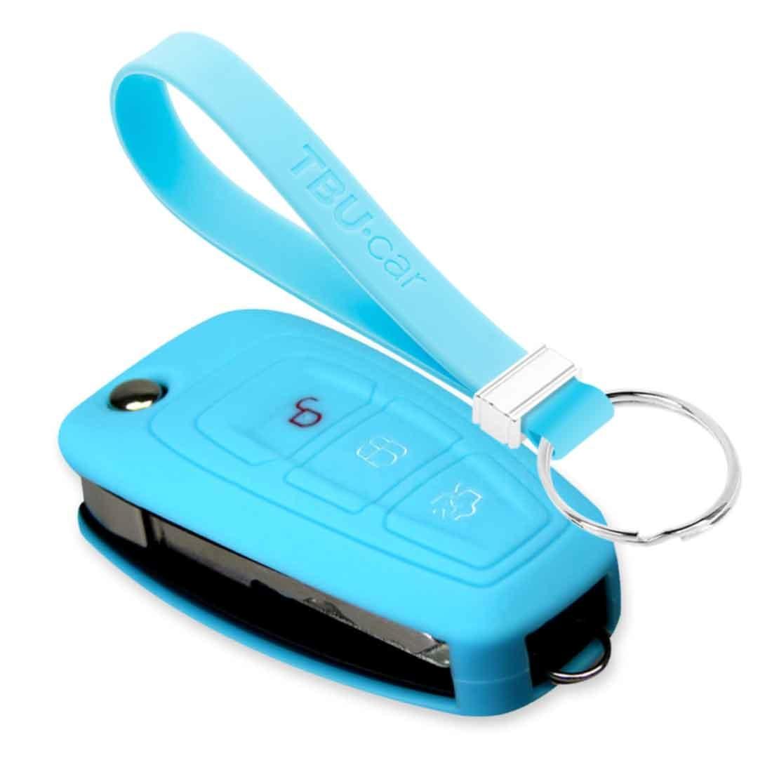 TBU car TBU car Sleutel cover compatibel met Ford - Silicone sleutelhoesje - beschermhoesje autosleutel - Lichtblauw