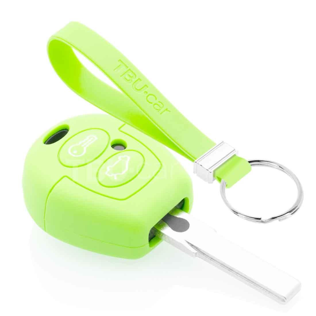 TBU car TBU car Autoschlüssel Hülle kompatibel mit Ford 2 Tasten - Schutzhülle aus Silikon - Auto Schlüsselhülle Cover in Im Dunkeln leuchten