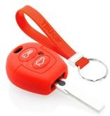 TBU car TBU car Sleutel cover compatibel met Ford - Silicone sleutelhoesje - beschermhoesje autosleutel - Rood