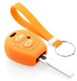 TBU car TBU car Autoschlüssel Hülle kompatibel mit Ford 2 Tasten - Schutzhülle aus Silikon - Auto Schlüsselhülle Cover in Orange