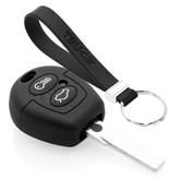 TBU car TBU car Autoschlüssel Hülle kompatibel mit Ford 2 Tasten - Schutzhülle aus Silikon - Auto Schlüsselhülle Cover in Schwarz