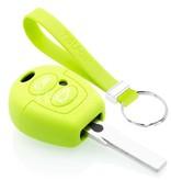 TBU car TBU car Autoschlüssel Hülle kompatibel mit Ford 2 Tasten - Schutzhülle aus Silikon - Auto Schlüsselhülle Cover in Lindgrün