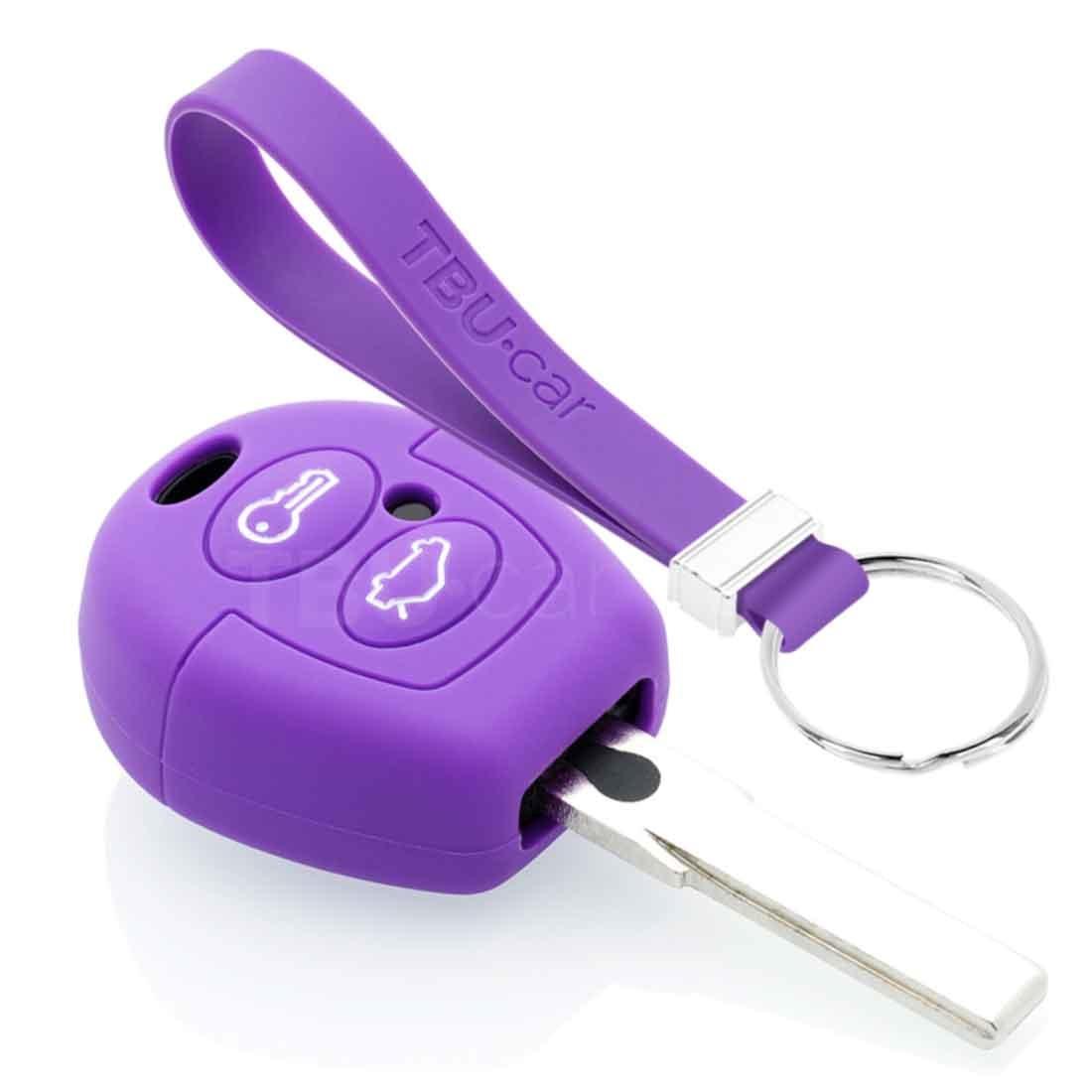 TBU car TBU car Autoschlüssel Hülle kompatibel mit Ford 2 Tasten - Schutzhülle aus Silikon - Auto Schlüsselhülle Cover in Violett