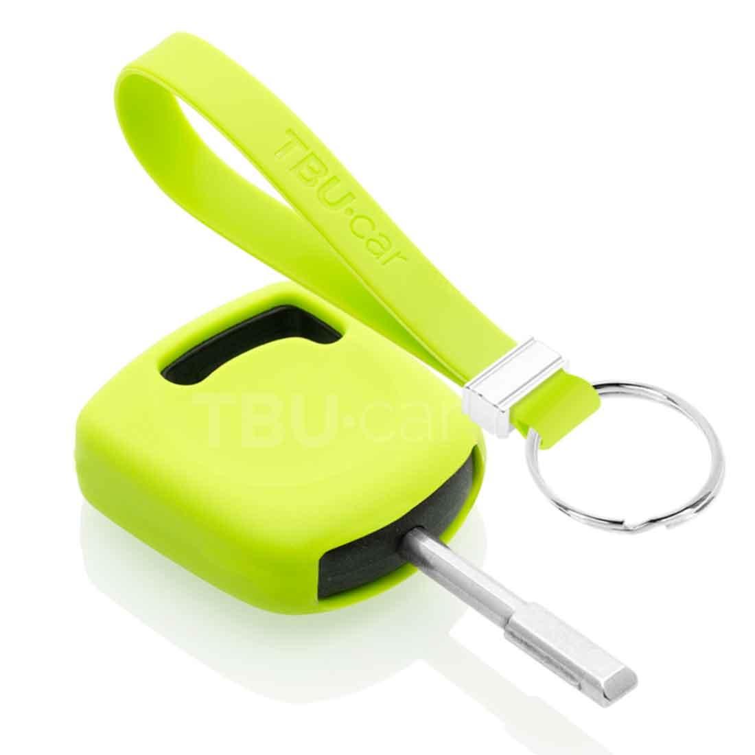 TBU car TBU car Autoschlüssel Hülle kompatibel mit Ford Standardschlüssel - Schutzhülle aus Silikon - Auto Schlüsselhülle Cover in Lindgrün