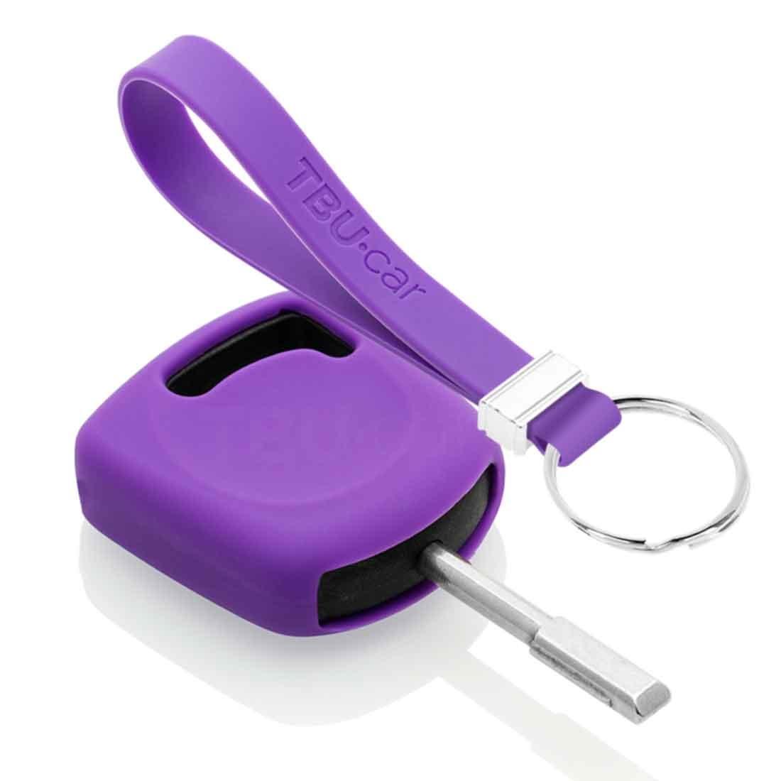 TBU car TBU car Autoschlüssel Hülle kompatibel mit Ford Standardschlüssel - Schutzhülle aus Silikon - Auto Schlüsselhülle Cover in Violett
