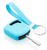 TBU car TBU car Autoschlüssel Hülle kompatibel mit Ford Standardschlüssel - Schutzhülle aus Silikon - Auto Schlüsselhülle Cover in Hellblau