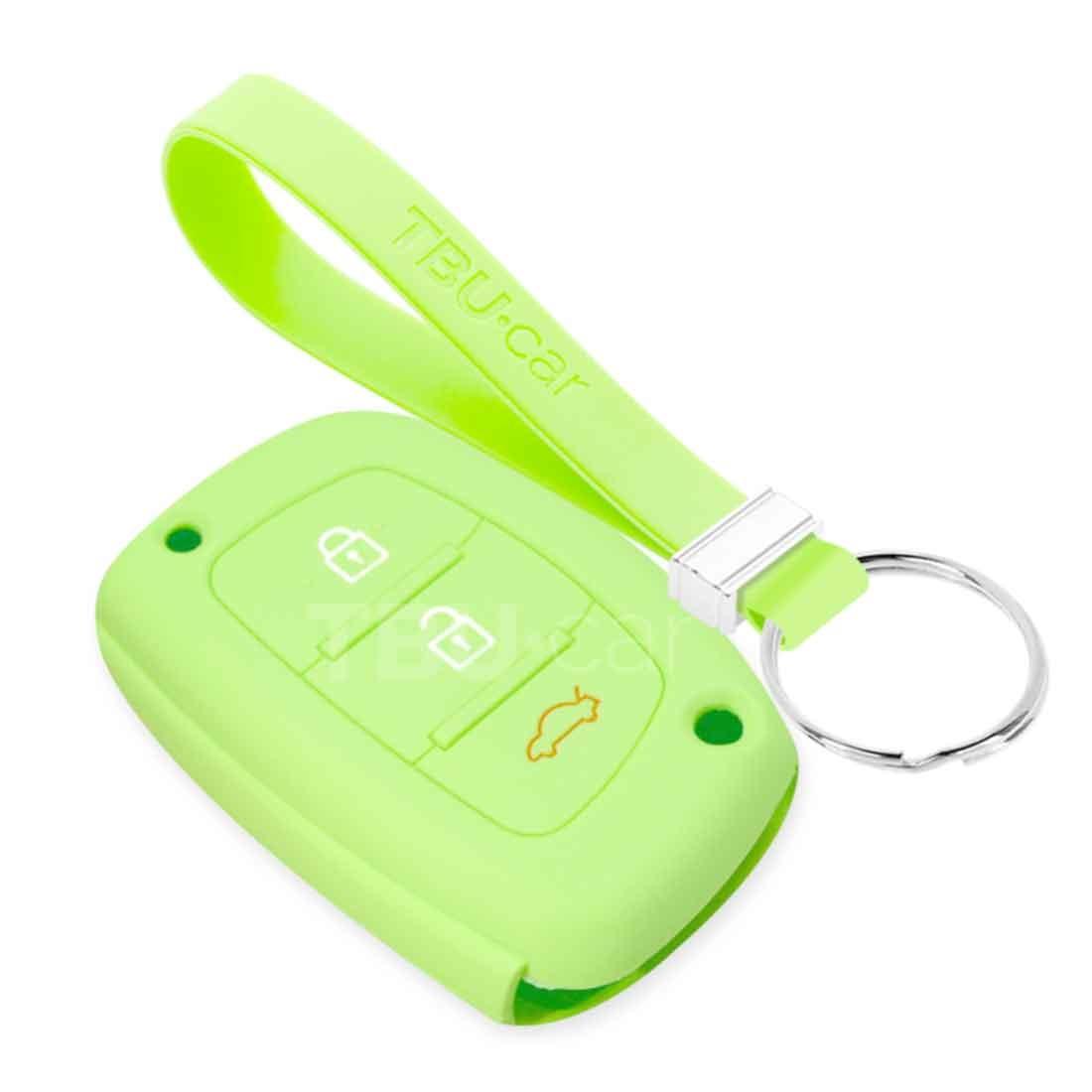TBU car TBU car Sleutel cover compatibel met Hyundai - Silicone sleutelhoesje - beschermhoesje autosleutel - Glow in the Dark