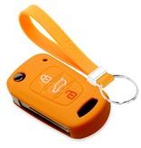 TBU car TBU car Sleutel cover compatibel met Kia - Silicone sleutelhoesje - beschermhoesje autosleutel - Oranje