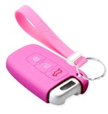 TBU car TBU car Sleutel cover compatibel met Kia - Silicone sleutelhoesje - beschermhoesje autosleutel - Roze