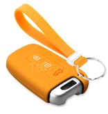 TBU car TBU car Autoschlüssel Hülle kompatibel mit Kia 3 Tasten (Keyless Entry) - Schutzhülle aus Silikon - Auto Schlüsselhülle Cover in Orange