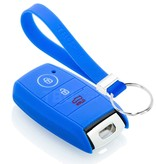 TBU car TBU car Sleutel cover compatibel met Kia - Silicone sleutelhoesje - beschermhoesje autosleutel - Blauw