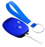 TBU car TBU car Sleutel cover compatibel met Honda - Silicone sleutelhoesje - beschermhoesje autosleutel - Blauw